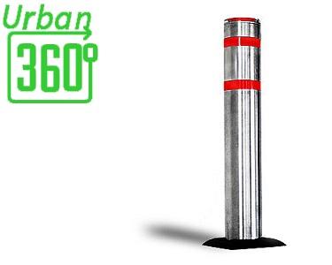 Dissuasore manuale per protezione del posto auto, antiparcheggio realizzato in acciaio modello AR860 Urban360° da installare in parcheggi privati