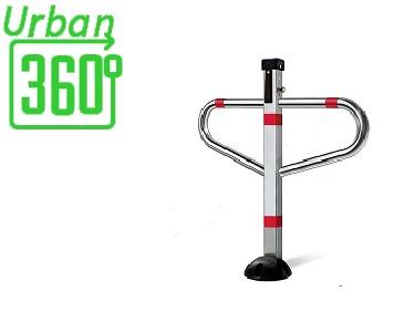 Dissuasore manuale per protezione del posto auto, antiparcheggio realizzato in acciaio modello AR750 Urban360° da installare in parcheggi privati