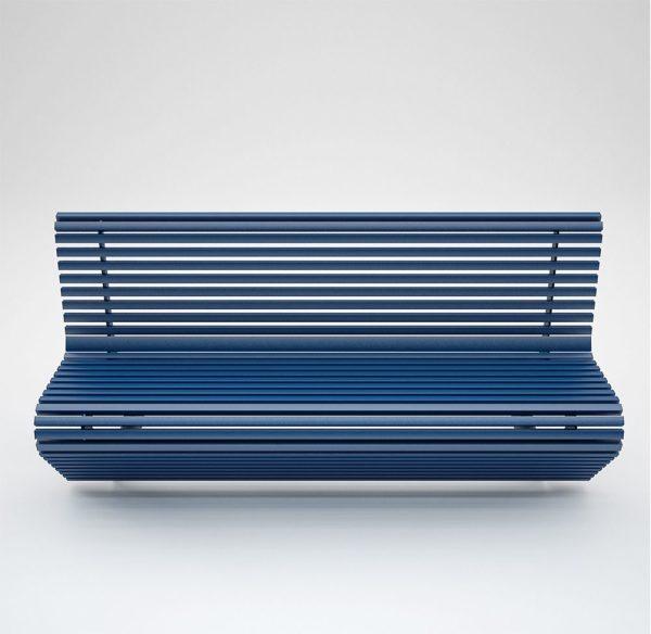 Elodie panchina arredo urbano in alluminio