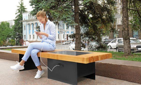 panchine moderne da esterno per smart city