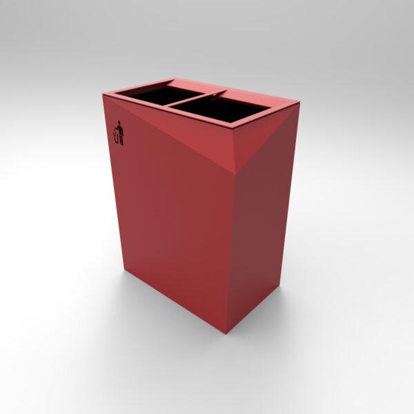 Cestino Origami Rosso a due scomparti