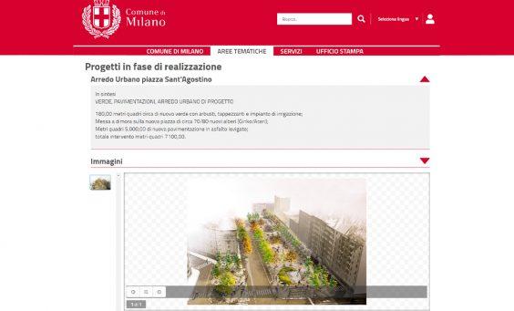 progetto di arredo urbano