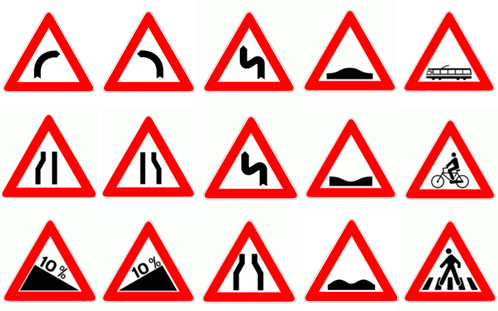 vari cartelli di pericolo